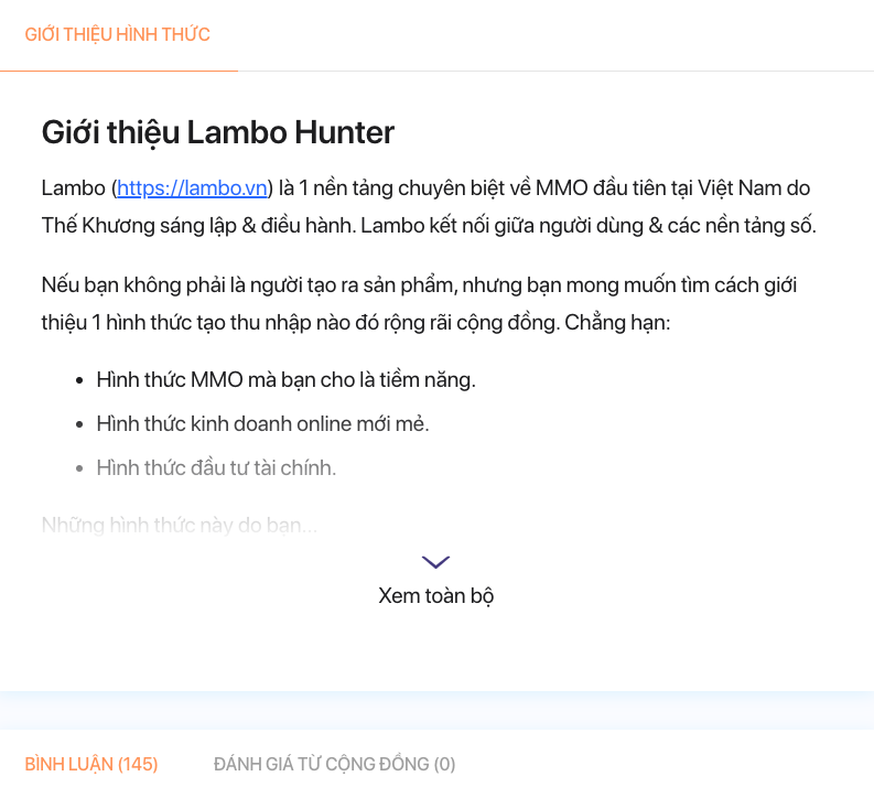 Lambo là gì? Lambo hunter