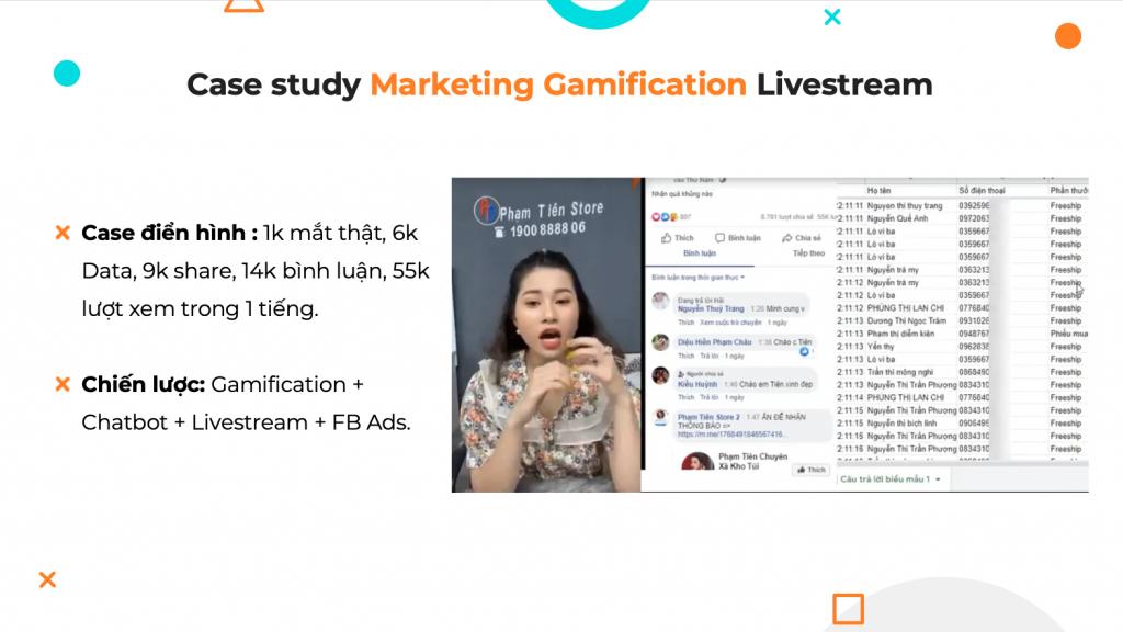 3 khoá học Chatbot - Kết quả từ chatbot Gamafication
