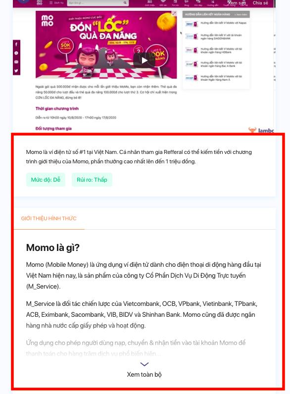 Referral là gì? Chương trình referral marketing của Momo