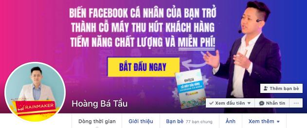 Bán hàng bằng Facebook cá nhân - ví dụ banner Hoàng Bá Tầu