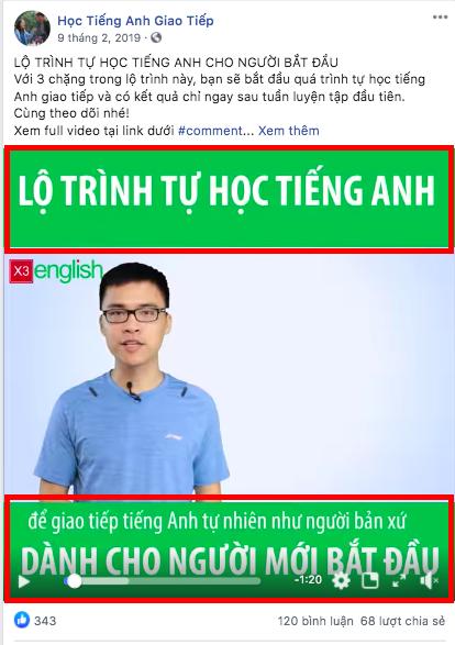 Đăng bài facebook hiệu quả - Bài đăng gồm văn bản và video