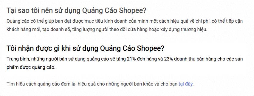 Khoá học bán hàng trên shoppe - Lợi ích khi chạy quảng cáo