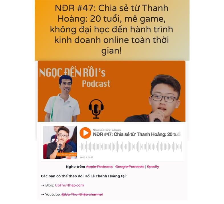 Cách đi backlink hiệu quả - Podcast