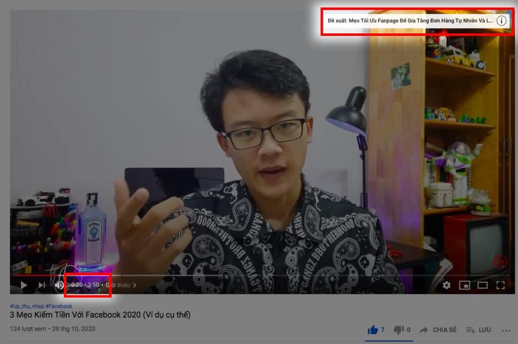 Tăng view youtube - thẻ giữ chân