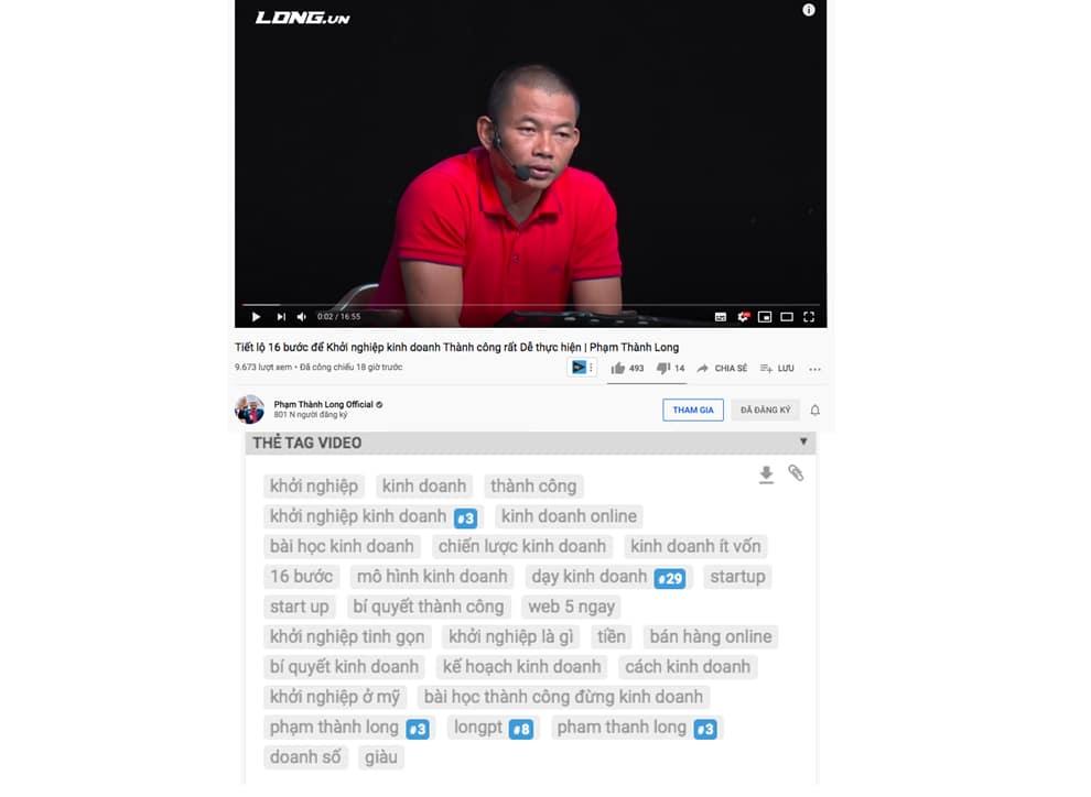 Tăng view youtube - thẻ tag video