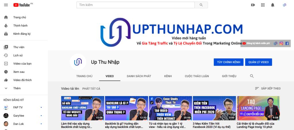 Hồ Lê Thanh Hoàng - channel youtube